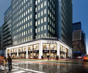 Rendering of the new Zara store at 222 Broadway