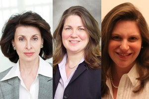 Mary Ann Tighe and Joan Meixner of CBRE; Anne Greenberger of Teach For America