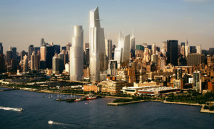 Early rendering of the Hudson Yards.