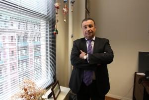 Perepada in his Garment District office