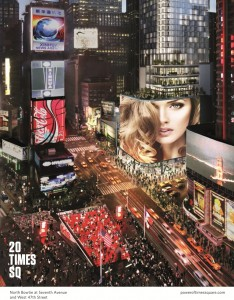 Rendering of 20 Times Square