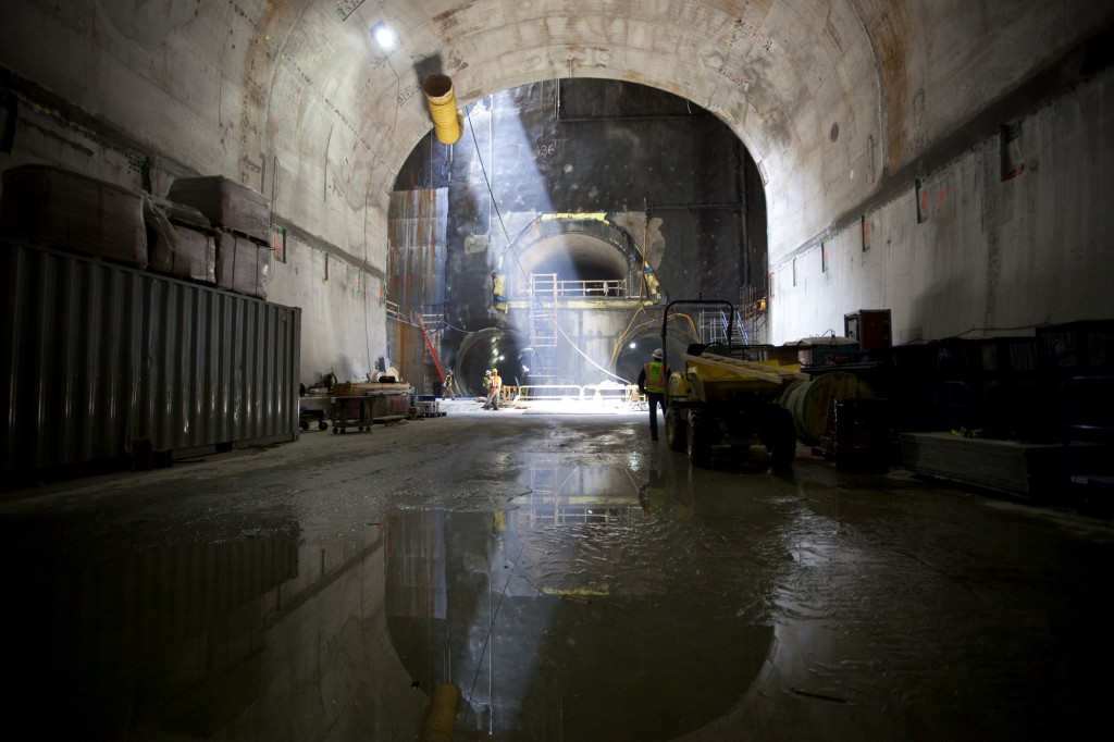 View from inside the Second Avenue Subway tunnel during a press tour May 1. Photo by Holly Dutton