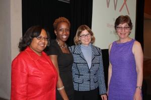 l-r: Anita Laremont, Shola Olatoye, Vicki Been and Elise Wagner