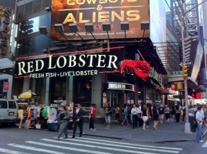 The Red Lobster in Times Square