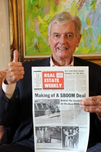 Real Estate Weekly has been  real estate's newspaper of record as long as French has worked at C&W. This front page announces one of his biggest deals.