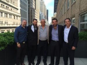L-r: Ran Korolik of Victor Homes, Darin Raiken of KRE Group, Moshe Shuster of Victor Homes, Jonathan Kushner of KRE Group, and Yoav Oelsner of Jones Lange LaSalle.