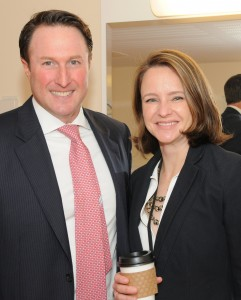 Adam Spies, managing director at Eastdil Secured, interviewed JP Asset Management executive director Hillary Spann in an opening keynote presentation at the first annual Real Estate Weekly Young Leaders Forum.           Photo by Richard Lewin