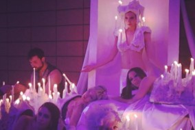 A human candelabra was among the whimsical and performance arts featured at the annual chashama gala.
