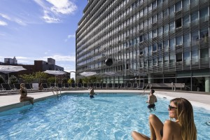 The outdoor pool at Mercedes House in Midtown West