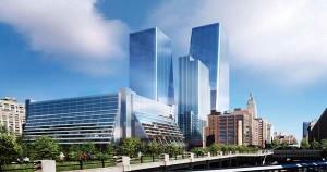 Rendering of the Manhattan West development