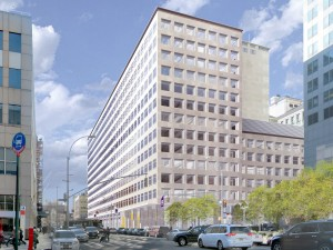 A rendering of 370 Jay Street after the planned renovation