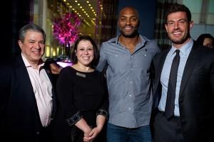 Principals Michael Glatt and Rebecca Humphrey, Macro Consultants; Amani Toomer, New York Giants; Jesse Palmer, New York Giants