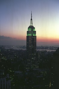 The Empire State Building is