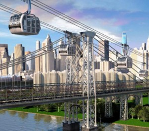 Rendering of the proposed skyway