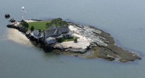 Belden Island, one of the Thimble Islands off shore from Branford, Conn., in Long Island Sound.