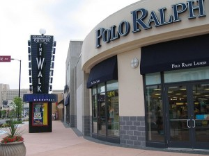 Outlet stores at The Walk in AC.