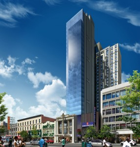 Rendering of the Renaissance Hotel on 125th Street