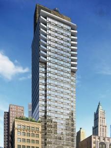 The Lara on Nassau Street: one of Manhattan's few new rental towers