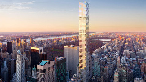 The supertall  432 Park Avenue is being built by CIM Group and Harry Macklowe. At 1,396 s/f, it is the third tallest building in the US.