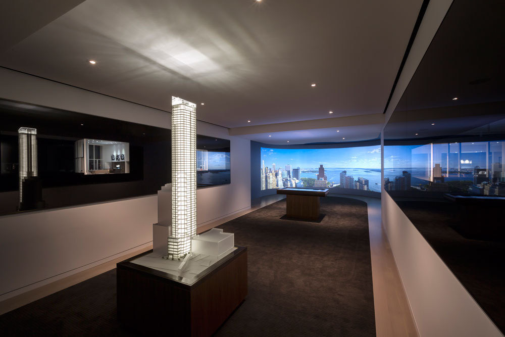 The 50 West sales gallery