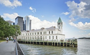 The landmark Pier A in Manhattan's Battery Park.