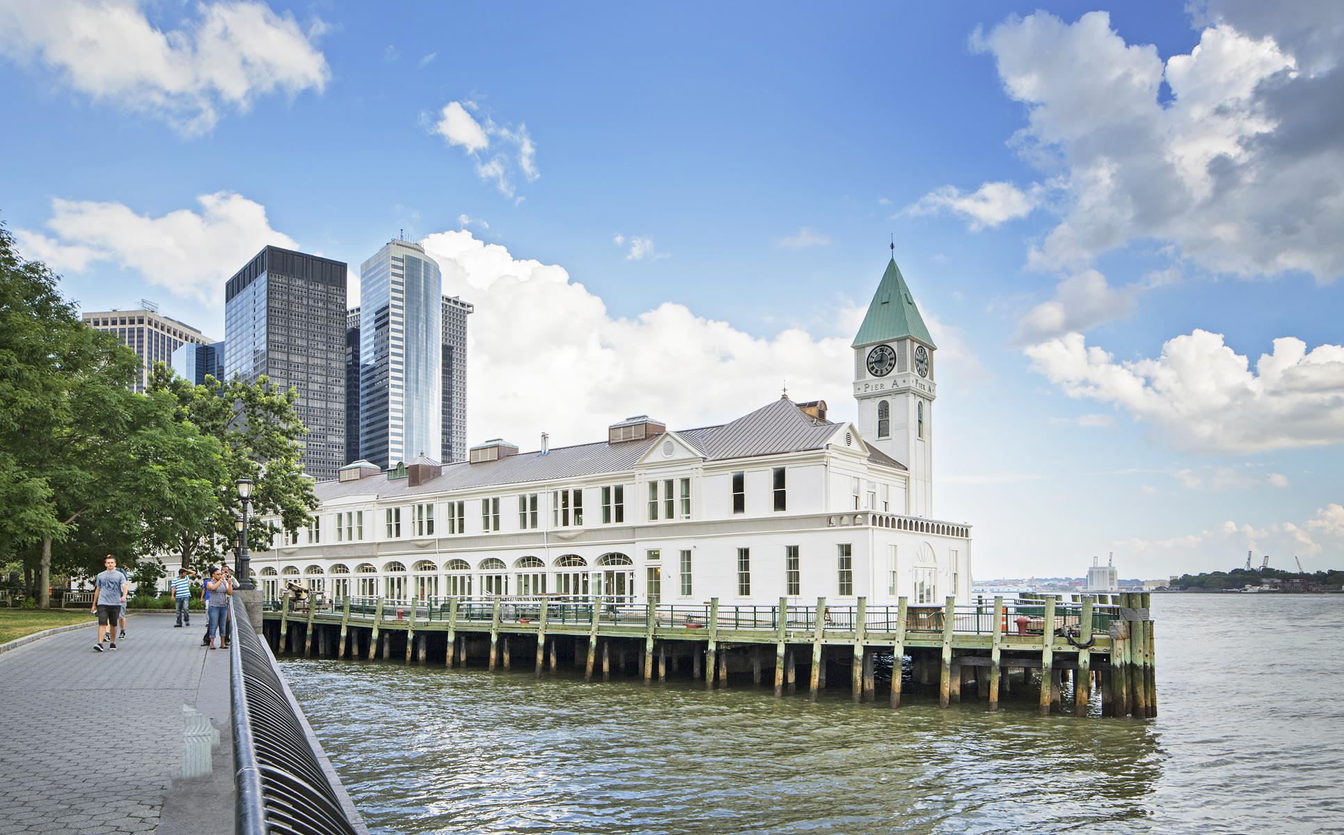 The landmark Pier A in Manhattan's Battery Park.