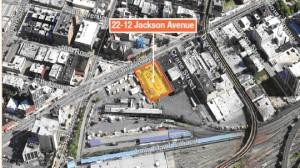 Ariel view of 22-12 Jackson Avenue site