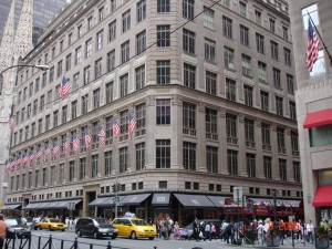 The Saks building at