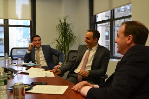 Hidary, Obeid and Morse sat down to talk hotels with James Nelson.