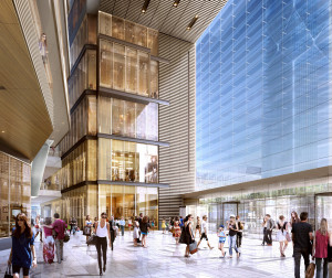Atrium View, The Shops & Restaurants at Hudson Yards (c) Related-Oxford