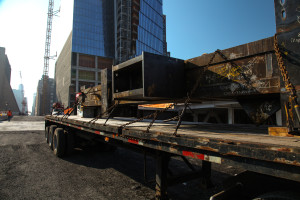 First piece of historic steel order arrives at Hudson Yards - Photo Credit Joe Woolhead