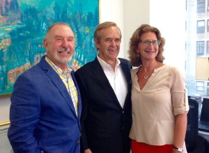 L-R: Paul Purcell, Bill Raveis and Kathy Braddock at last night's cocktail party.