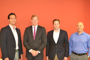 Pictured l-r: Arik Lifshitz, James Nelson, David Shorenstein, Danny Fishman