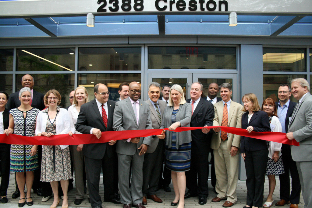 A ribbon cutting was held to mark the opening of the development.