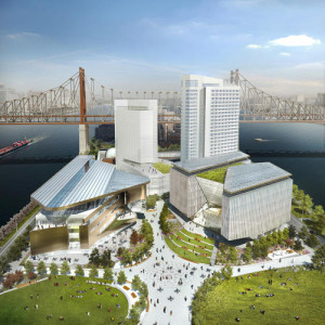 Rendering of the Cornell Tech campus