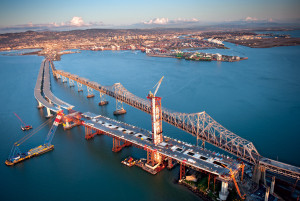 San Francisco's Bay Bridge is the widest in the world.