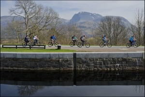Ben Nevis forms magnificent backdrop to the Caledonian Canal