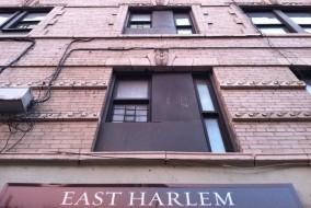 east harlem sign evening