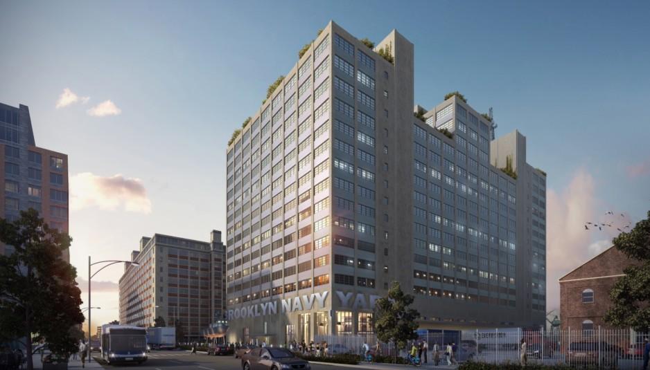 Rendering of Building 77 at the Brooklyn Navy Yard
