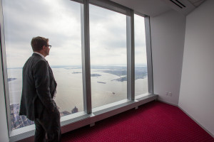 Servcorp COO Marcus Moufarrige at 1 WTC where the firm rents offices for $1,000 a month