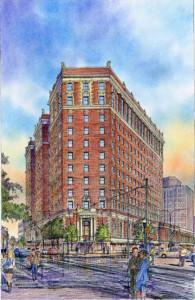 Marriott Syracuse Downtown, exterior rendering (1)