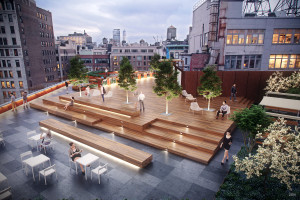 The roof terrace at 50 West 23rd