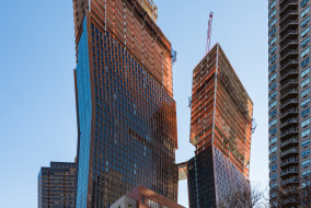 The under construction towers at 626 First Avenue