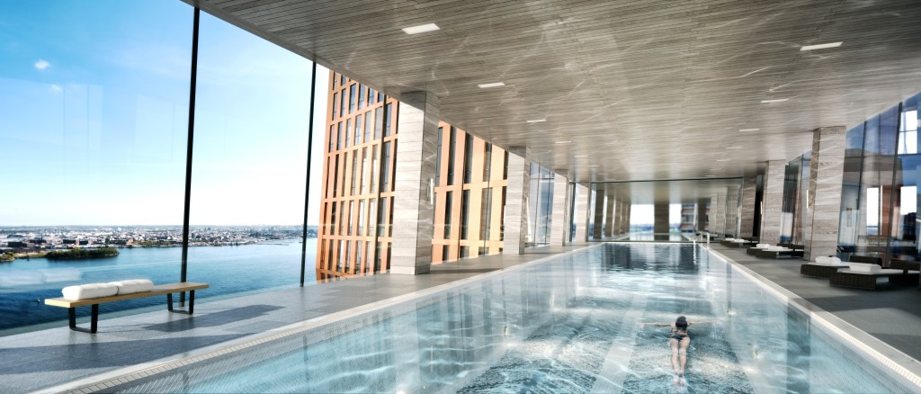 A rendering of the lap pool