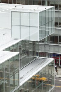 The retail cubes at 120 West 42nd Street
