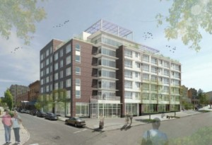 Rendering of the Crotona Senior Residences by Magnusson Architecture