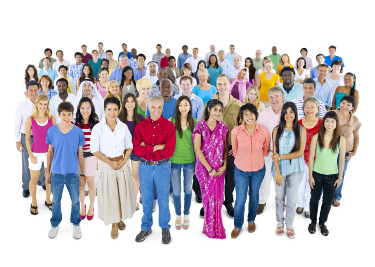 Large group of Multi-ethnic people