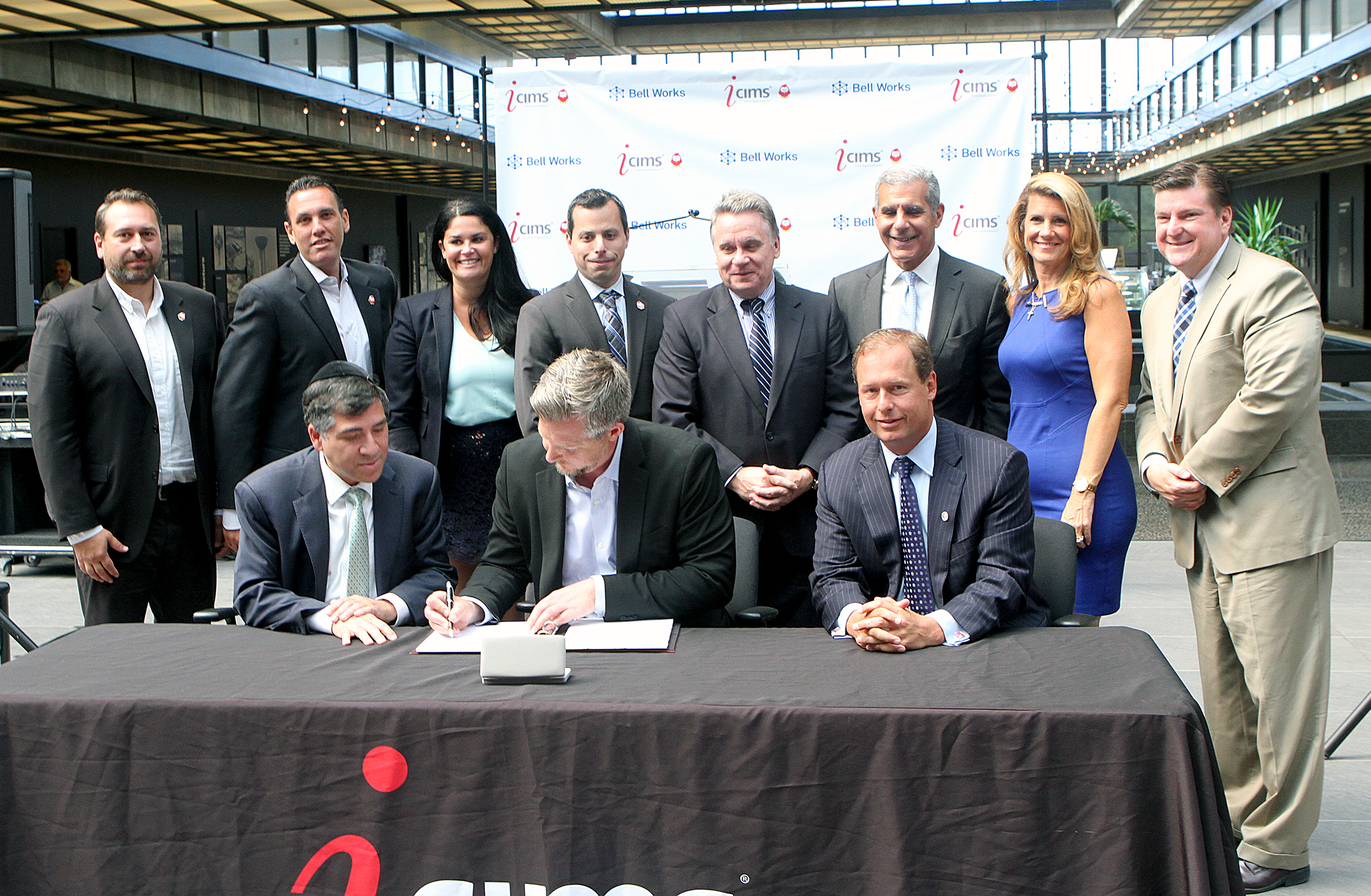 An official lease signing was held Tuesday.