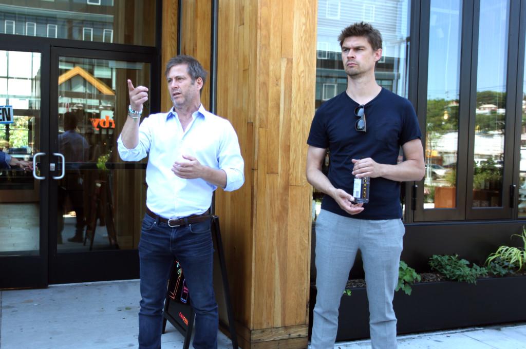 Dave Barry, left, of Ironstate Development, and Erikjan Vermeulen, of Concrete