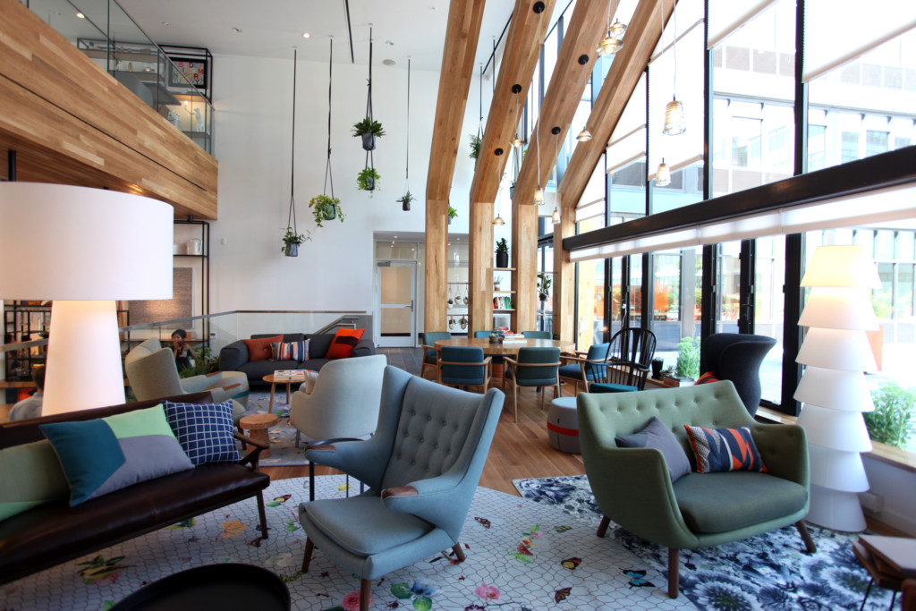 The lounge area at Coffeed